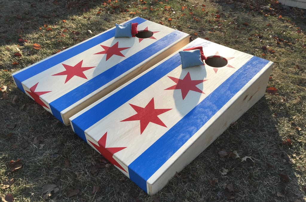 Play Cornhole at Joe's Bar
